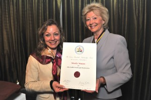 With Jenifer Emery, President of the Royal Warrant Holders Association