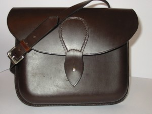 Moulded leather bag
