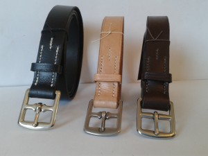 Handstitched leather belts
